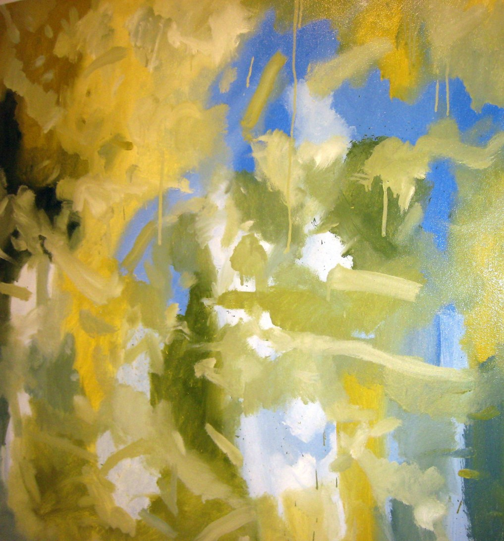 """""""Big Sky"""" 2d oil on canvas 50x50"""" price on request"""