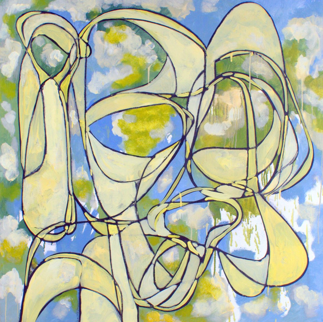 "Untitled #6 oil on canvas 50"" x 50"" price on request,click on image for larger version"