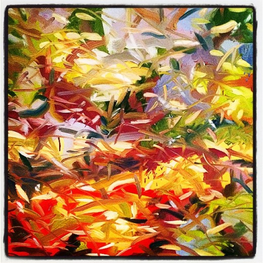 """Open oil on canvas 50x50"""" price on request"""